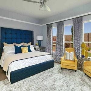 Transitional Modern Bedroom by Monica Wilcox