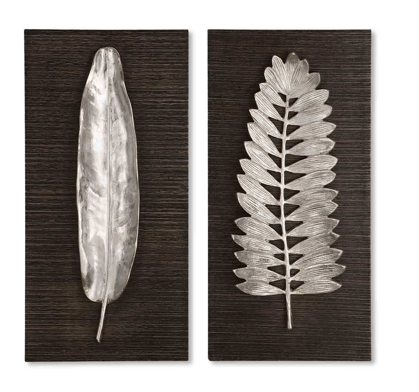 Fresh Silver Leaf Wall Art — M. Wilcox Design XH92